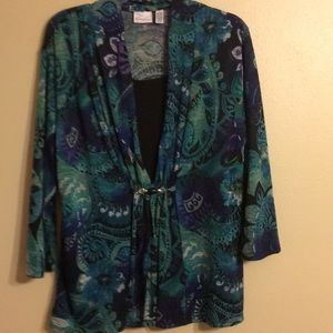 BEAUTIFUL MULTICOLORED TOP BY KIM ROGERS